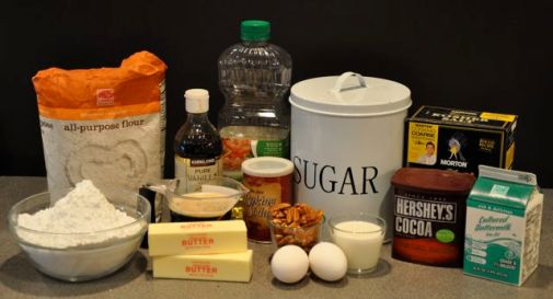 ingredients-chocolate-cake
